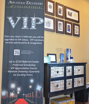 vip referral program advanced dentistry of collegeville