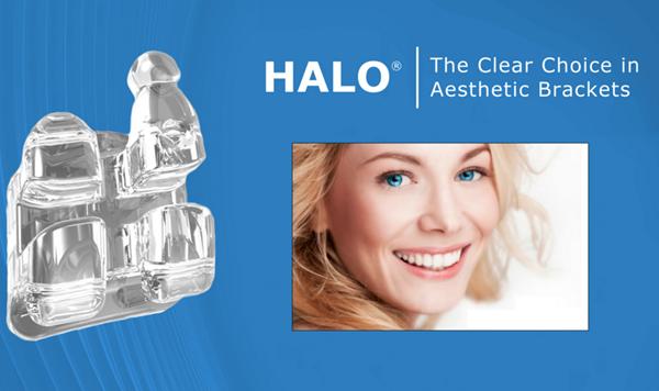 Halo clear braces.