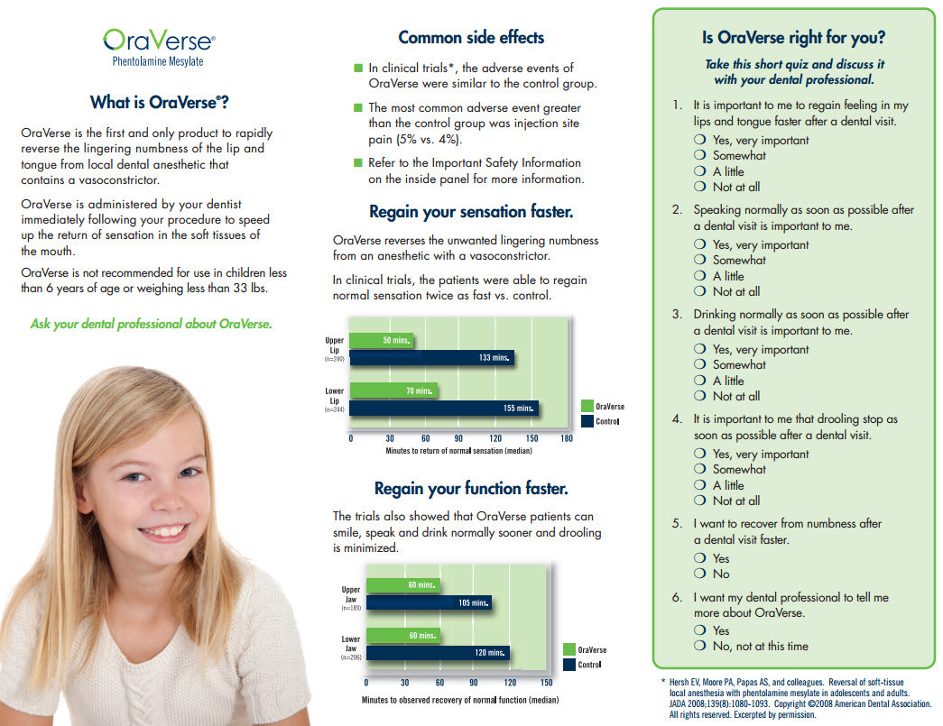 Ora Verse brochure Collegeville dentist