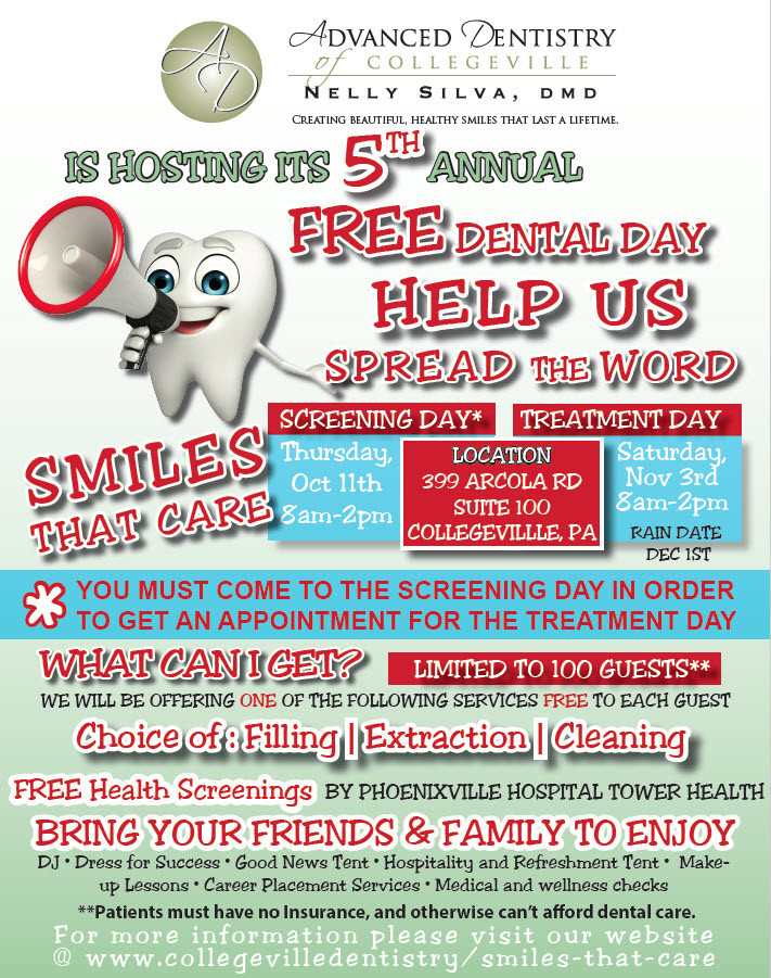 free dental day advanced dentistry of collegeville 2018